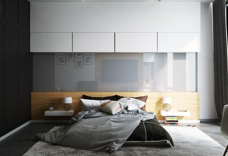 camas de matrimonio bajas suelo dormitorio ideas