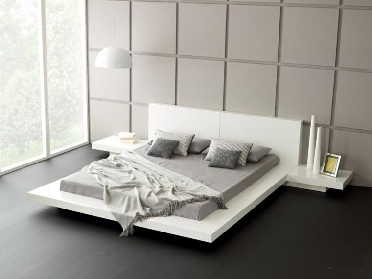 camas matrimonio bajas cama blanca grande ideas