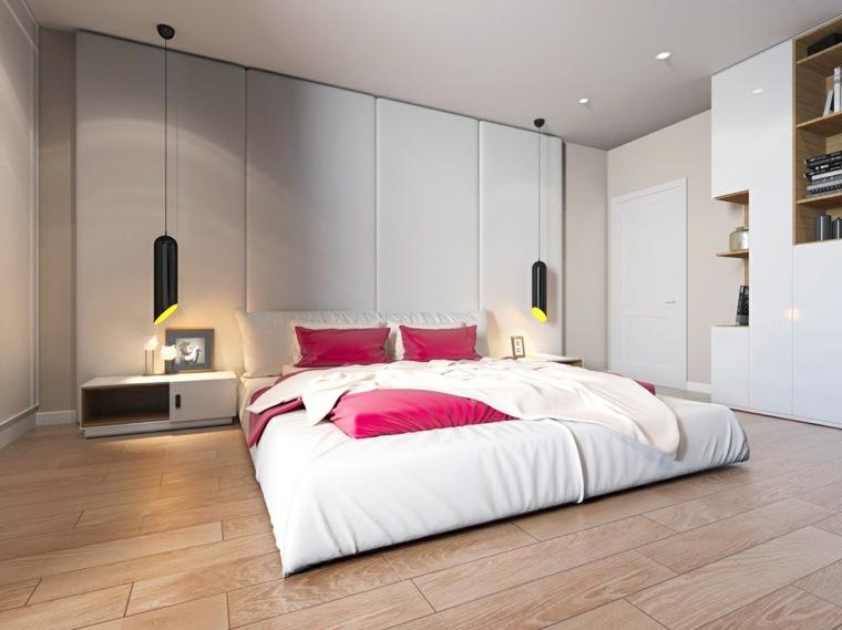 camas matrimonio bajas cama paredes color blanco ideas