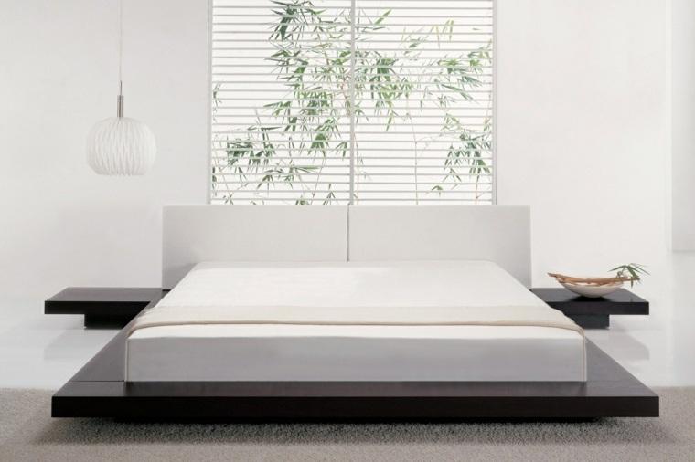camas matrimonio bajas diseno minimalista ideas