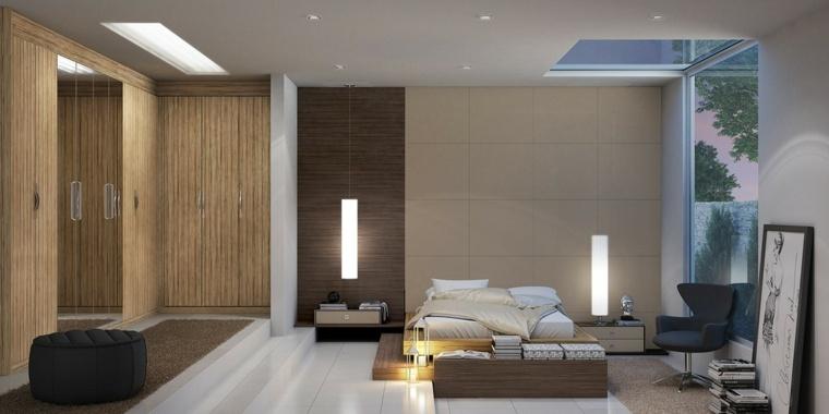 camas matrimonio bajas dormitorio colores neutrales ideas