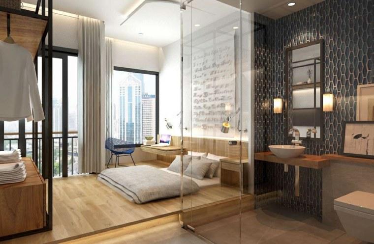 camas matrimonio bajas dormitorio luminoso ideas