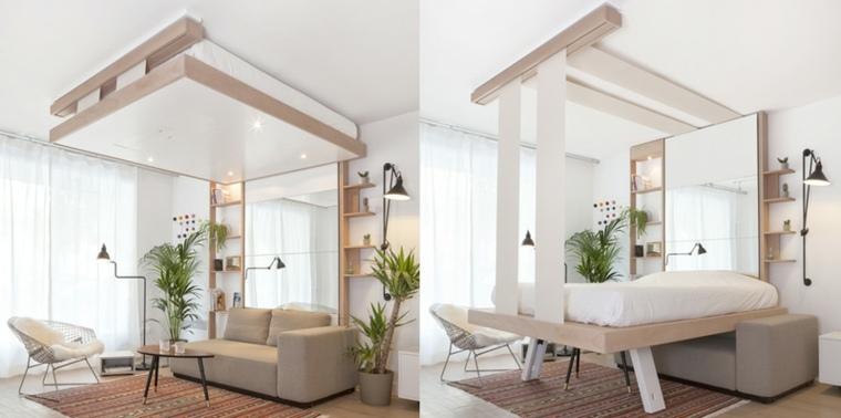 camas para ahorrar espacio interior