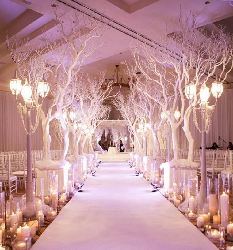 camino altar diseno boda invierno ideas