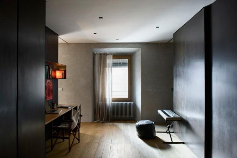 interior casa alemanys 5 paredes negras