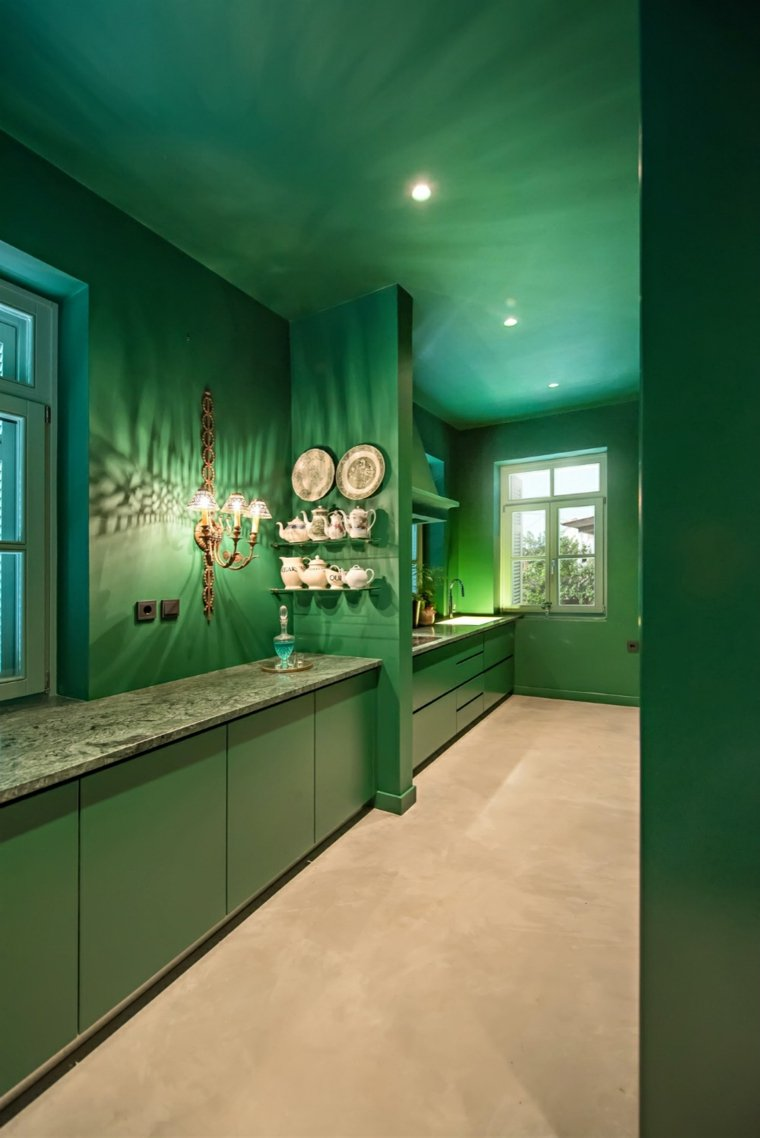 casa de vacaciones plaini cocina verde
