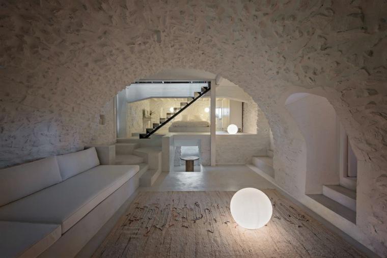 casa de vacaciones plaini interior blanco