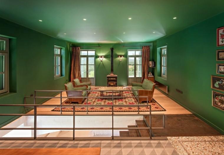 casa de vacaciones sala verde
