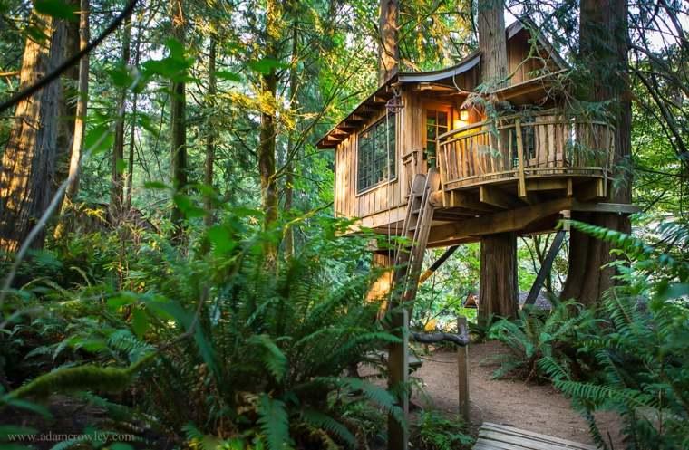 casa en los árboles moderna