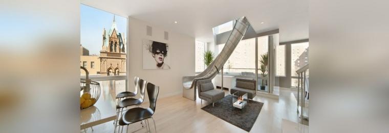Toboganes dentro de casa ideas de interiores divertidos for Casas modernas x dentro