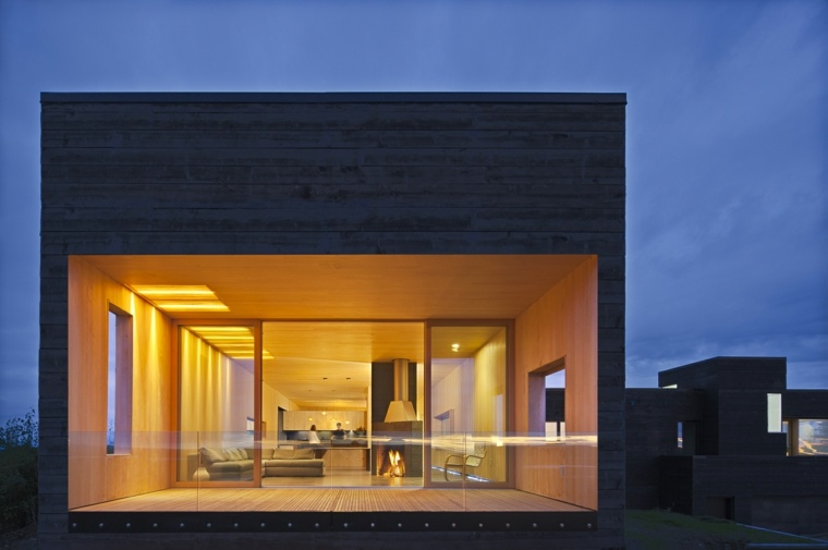casa moderna ventana grande fachada mayer sattler smith ideas