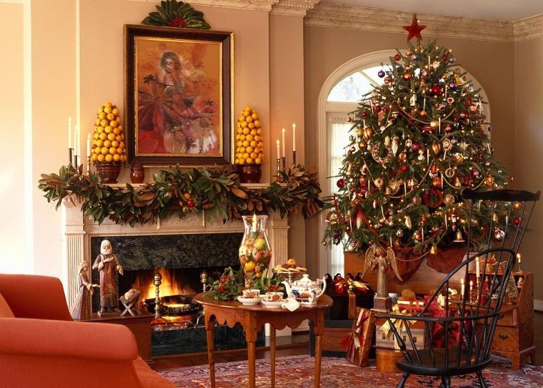 casa preciosa salon vintage decorado navidad ideas