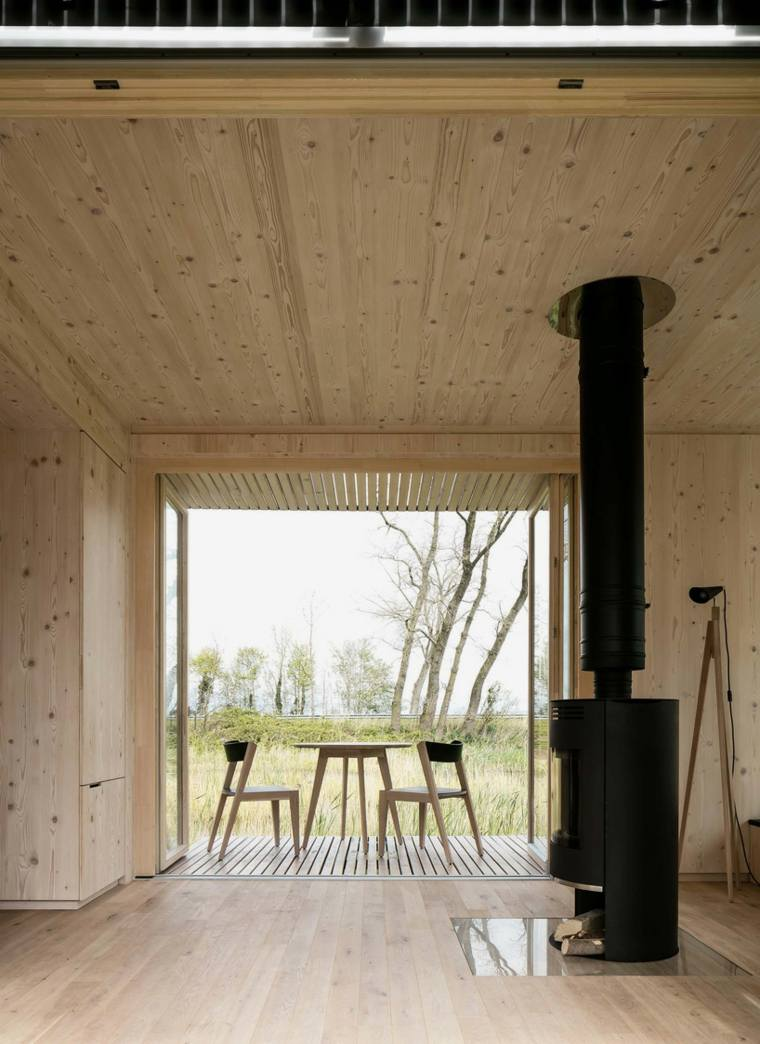 casas moviles ark shelter diseno interior chimenea ideas