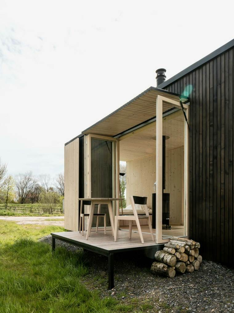 casas moviles ark shelter diseno terraza ideas