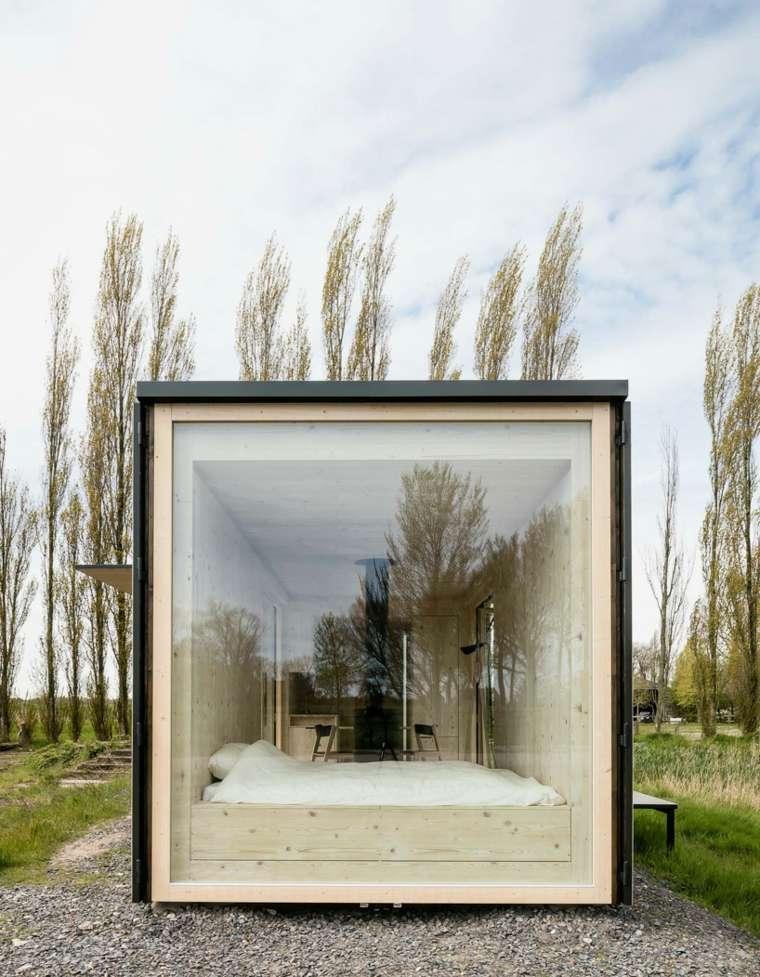 casas moviles ark shelter diseno ventana luminosa ideas