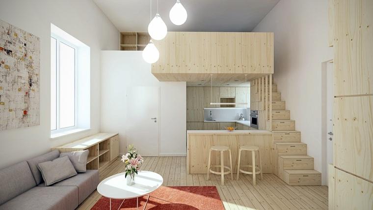 casas pequeñas decoracion madera especiales lamparas