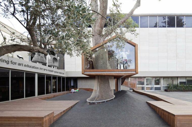 casas sobre árboles modernas