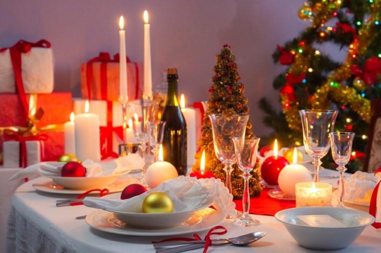 cenas de navidad decoracion mesa brillante decor ideas
