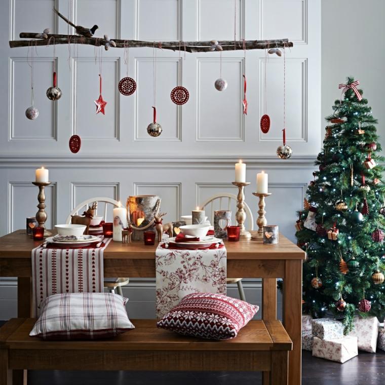 cenas de navidad decoracion mesa decoracion colgante ideas