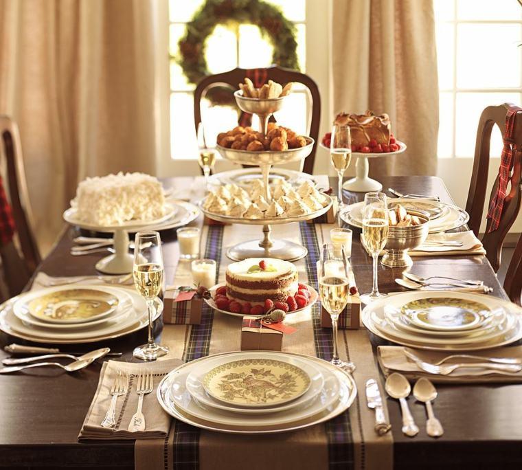 cenas de navidad decoracion mesa diseno modesto ideas