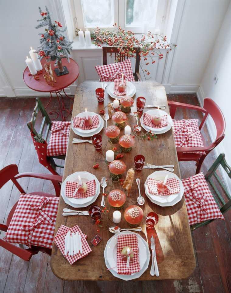cenas de navidad decoracion mesa estilo interesante ideas