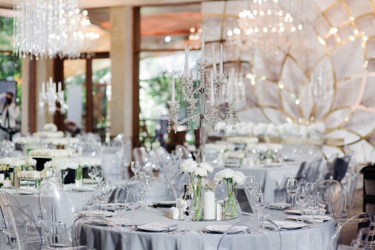centro mesa candelabro cristal opciones boda ideas
