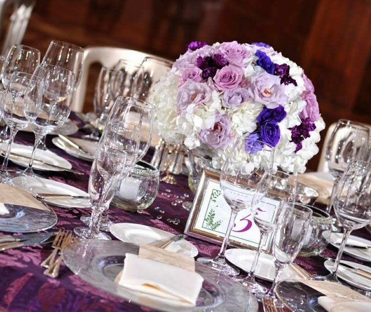 centro mesa ramo decoracion boda invierno ideas