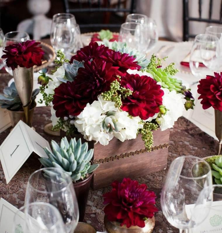 centros de flores para bodas decorar