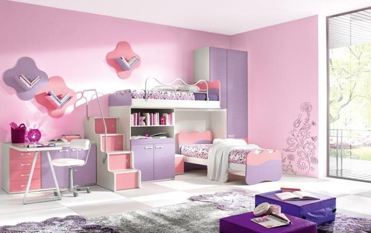chicas habitaciones rosa elementos alfombras