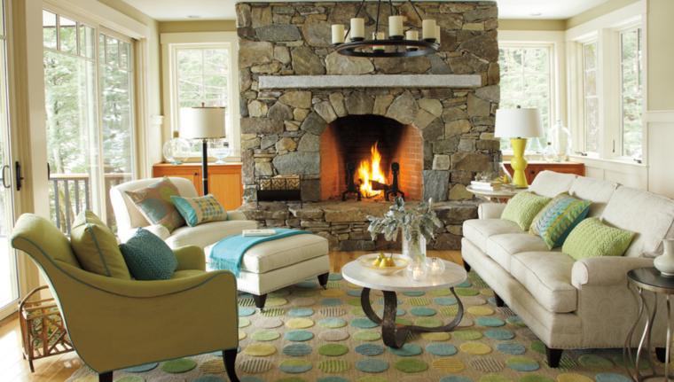 Interiores modernos con chimenea que lograr n inspirarte - Tipo de chimeneas ...