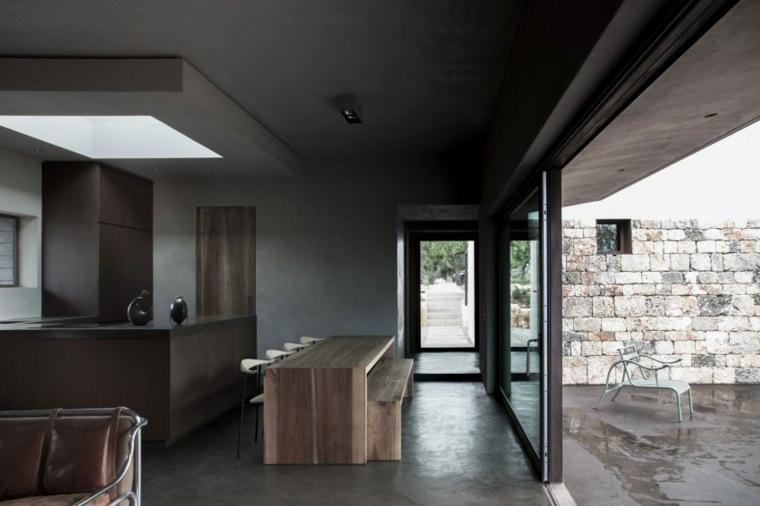 cocina barra comedor mesa madera casa diseno ideas