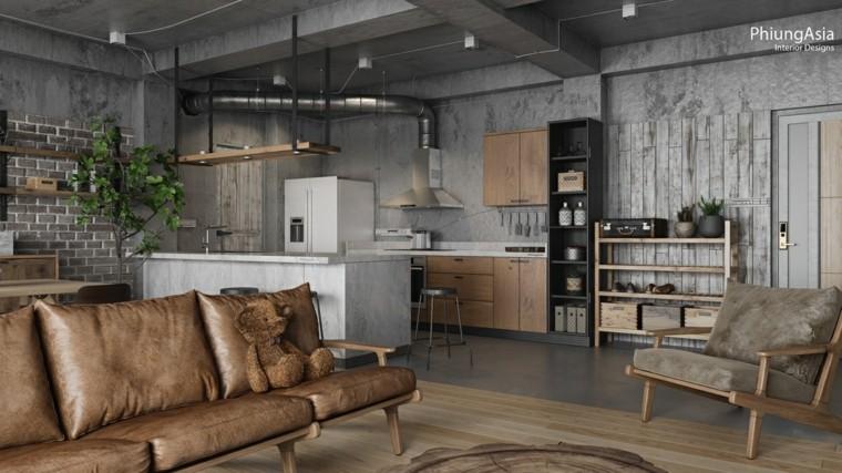 cocina industrial marmol mesa ideas