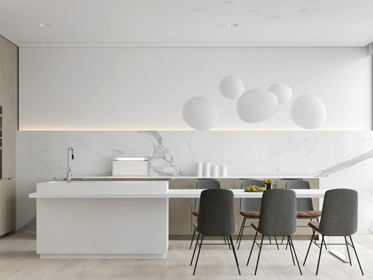 cocina marmol color blanco