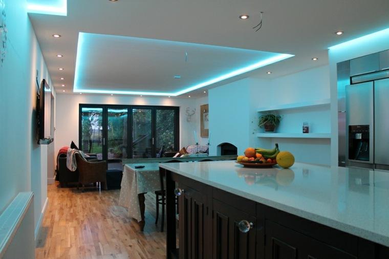 cocina comedor luces Led azules