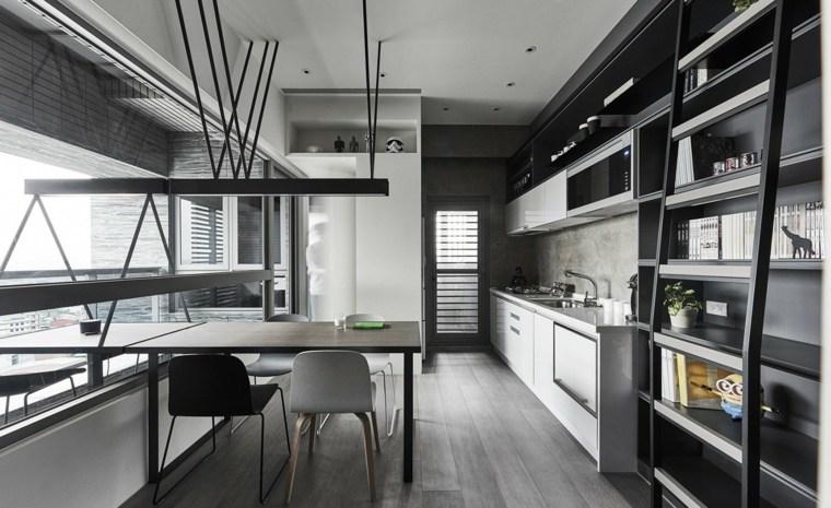 color gris cocinas vista ibrero separadores