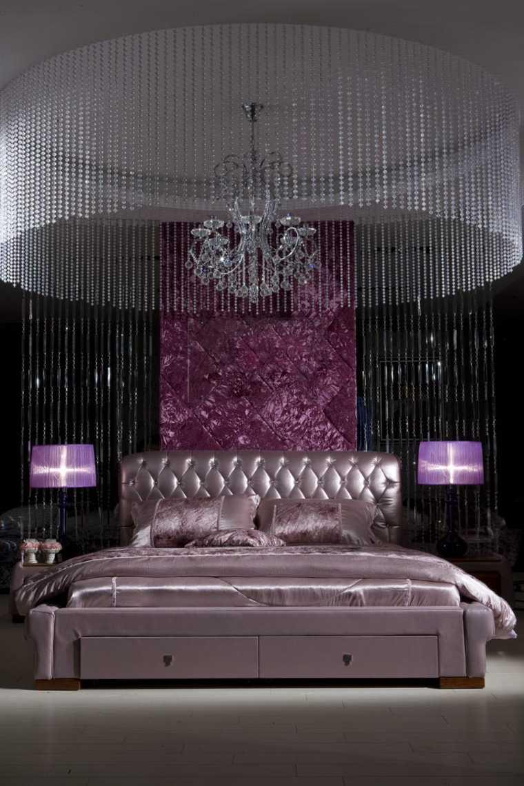 color rosa dorado combinacion diseno dormitorio cama ideas