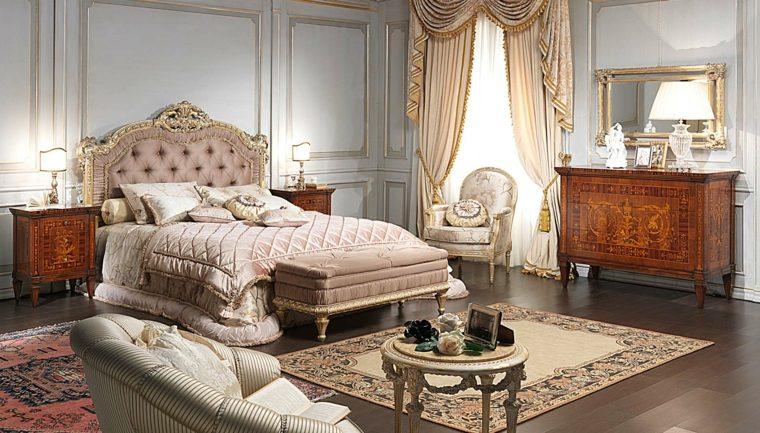 color rosa dorado combinacion diseno dormitorio ideas