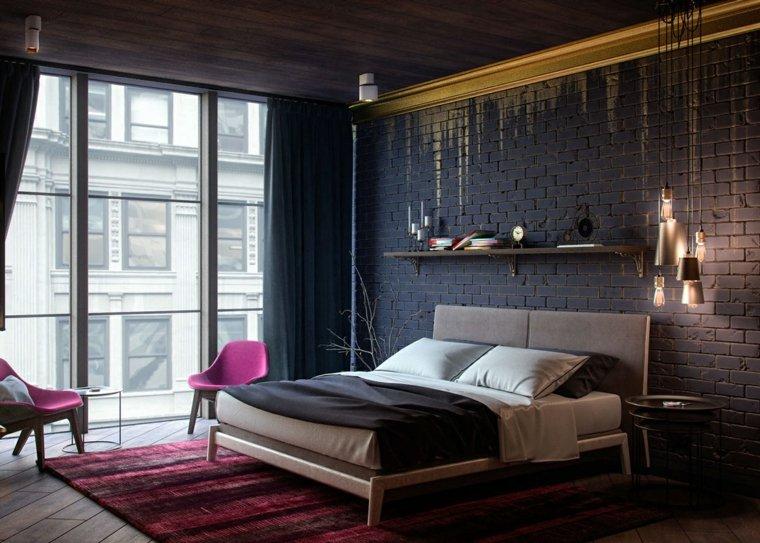 color-rosa-dorado-negro-combinacion-diseno-dormitorio