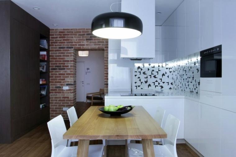 comedor cocina apartamento diseno lugerin architects ideas