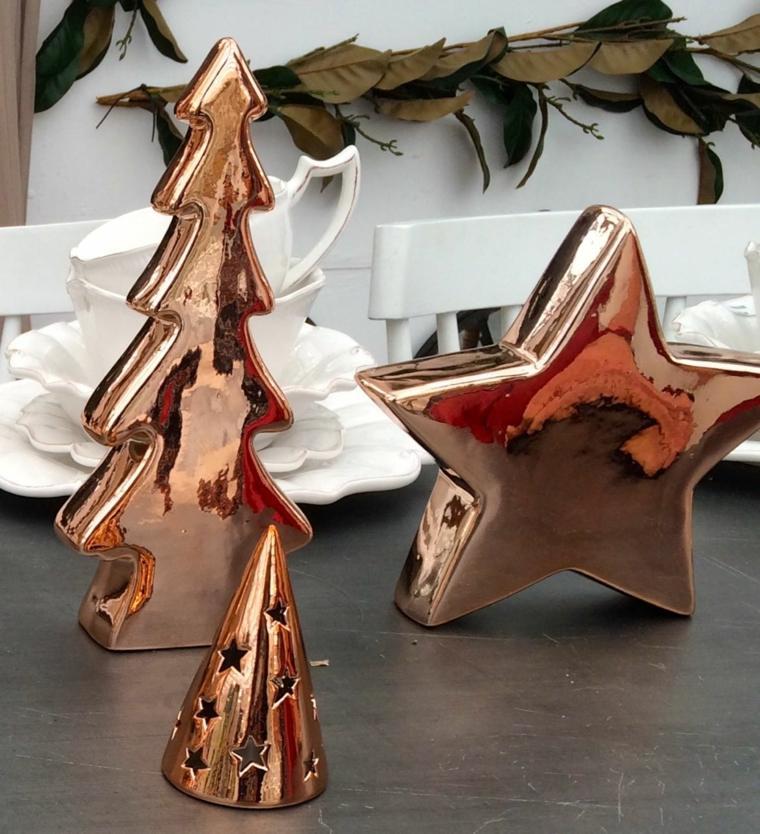 cómo decorar para navidad cobre