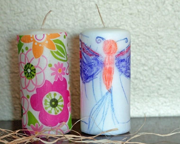 cómo decorar una vela pinturas