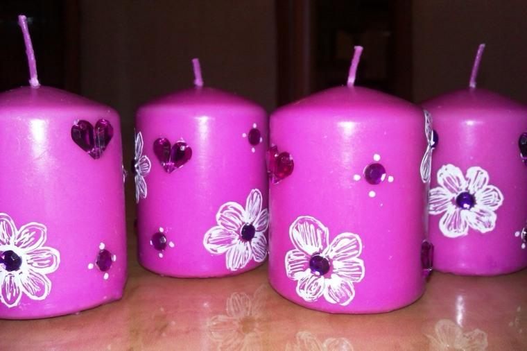 Decorar velas para dar un toque original al interior - Como decorar velas ...