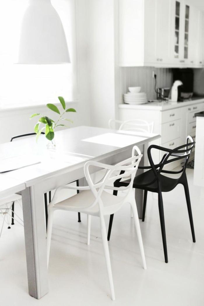 conjunto sillas nordicas blanco negro