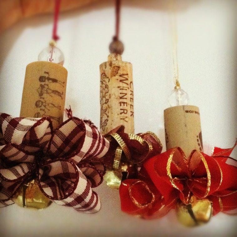 corchos lazos decoracion navidena moderna ideas