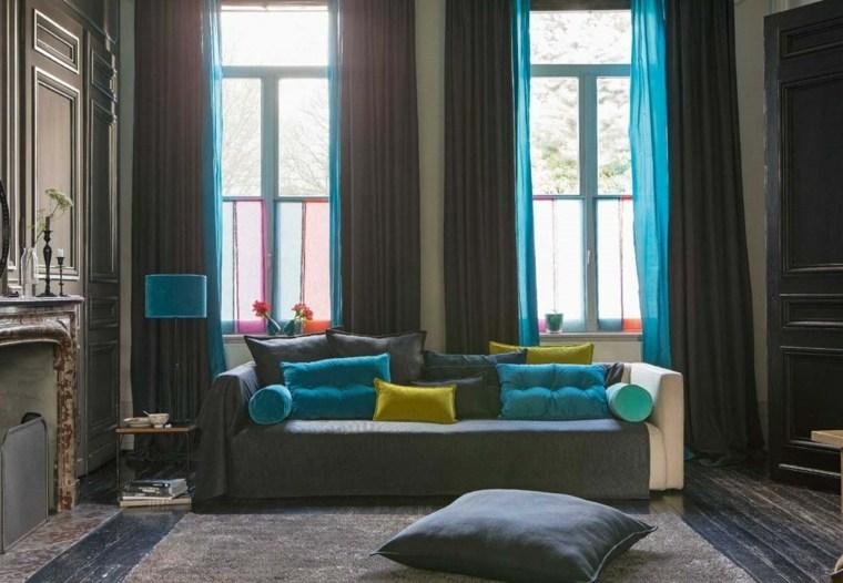 Tipos de cortinas soluciones originales para la ventana - Diseno de cortinas para salon ...