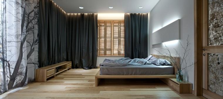 rideaux noirs chambre minimaliste ryntovt design ideas