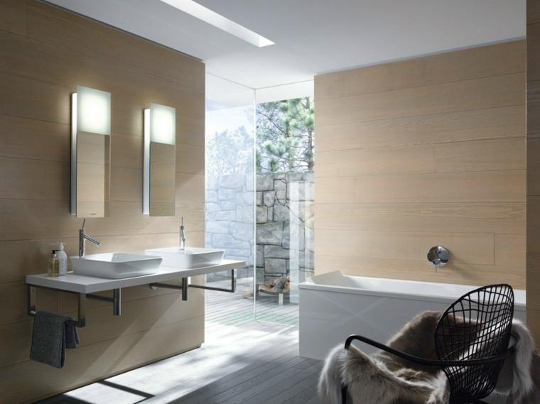cuarto bano minimalista moderno amplio ideas