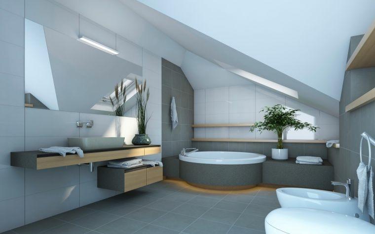 cuarto bano minimalista moderno detalles madera ideas