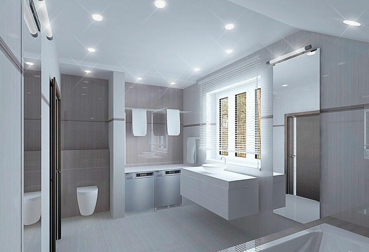 Cuarto de baño minimalista y moderno -