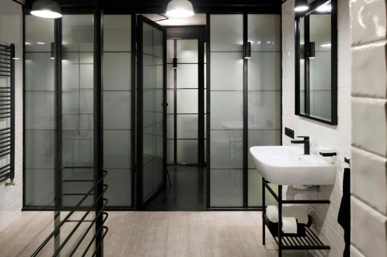 cuarto baño puertas vidrio